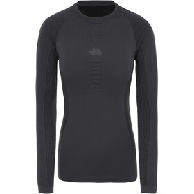 The North Face Active T-shirt manches longues à col ras du cou Femme, asphalt grey/tnf black